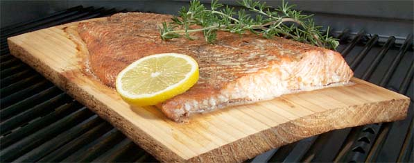 Photo of cedar plank Salmon